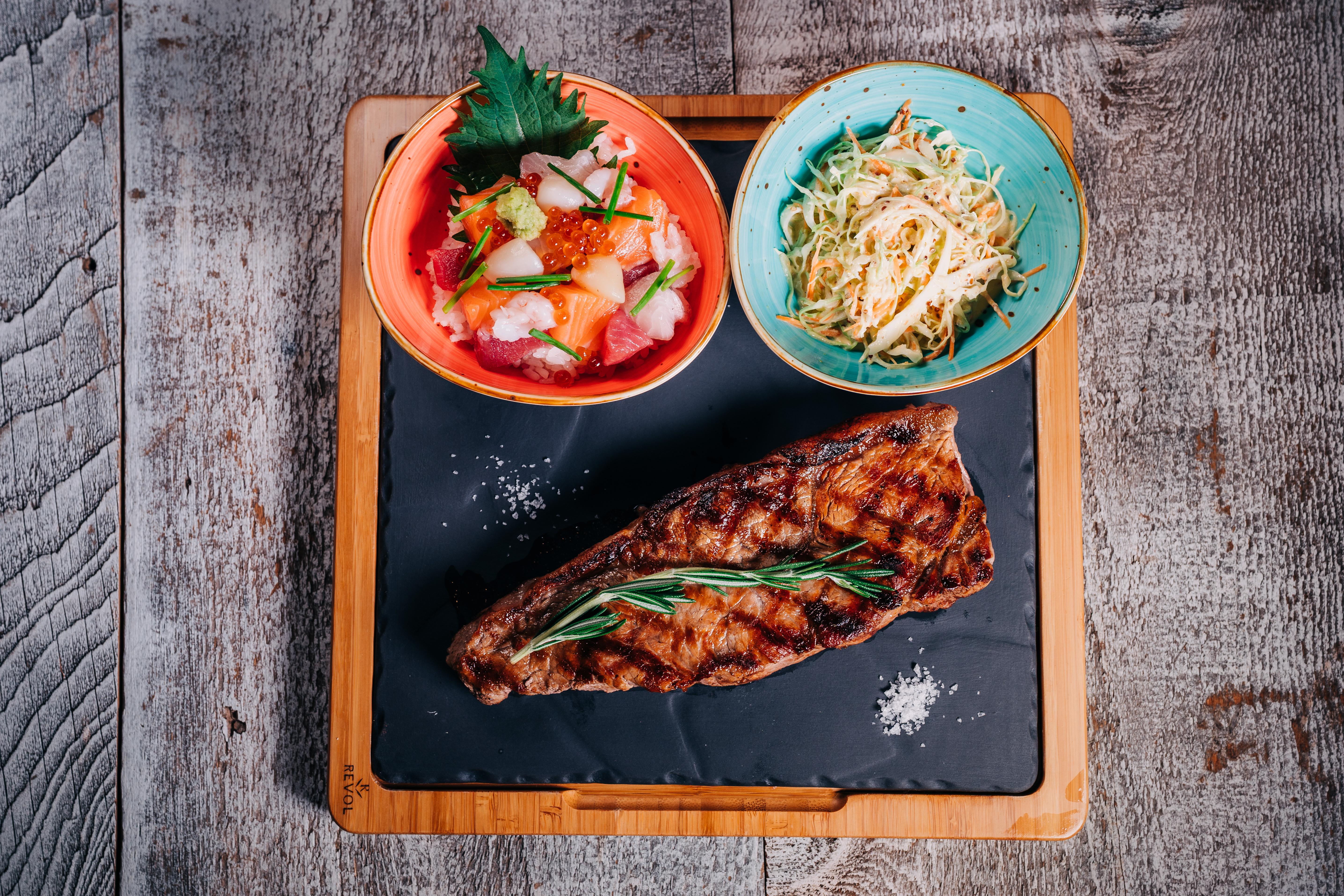 Steak & Sushi menu